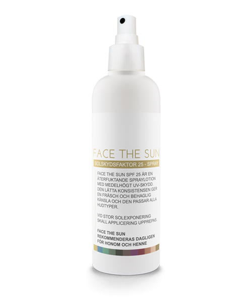 Solskydd Spray - Face The Sun - Spraylotion SPF 25